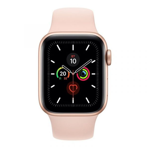 Часы Apple Watch Series 5 GPS 40mm Aluminum Case with Sport Band Gold, Pink Sand (розовые)-1