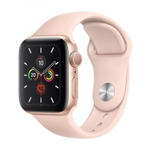 Часы Apple Watch Series 5 GPS 40mm Aluminum Case with Sport Band Gold, Pink Sand (розовые)