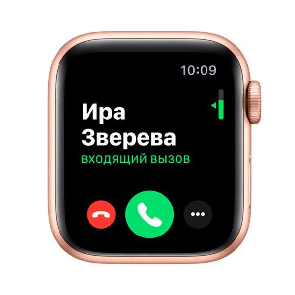 Часы Apple Watch Series 5 GPS 40mm Aluminum Case with Sport Band Gold, Pink Sand (розовые)-4