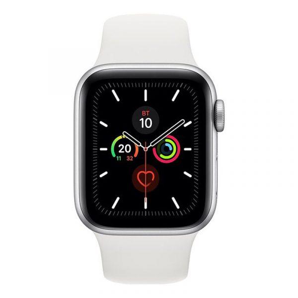 Часы Apple Watch Series 5 GPS 40mm Aluminum Case with Sport Band Silver, White (серебристый)-1