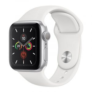 Часы Apple Watch Series 5 GPS 40mm Aluminum Case with Sport Band Silver, White (серебристый)