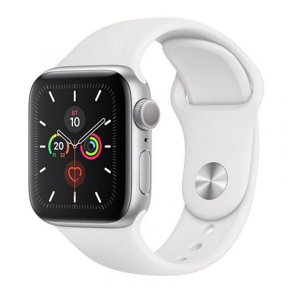 Часы Apple Watch Series 5 GPS 40mm Aluminum Case with Sport Band Silver, White (серебристый)