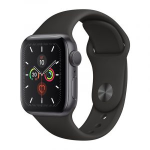 Часы Apple Watch Series 5 GPS 40mm Aluminum Case with Sport Band Space Gray, Black (Черный)