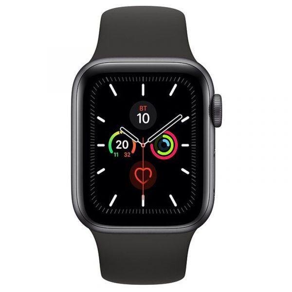 Часы Apple Watch Series 5 GPS 44mm Aluminum Case with Sport Band Space Gray, Black (черный)-1