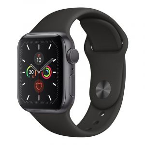 Часы Apple Watch Series 5 GPS 44mm Aluminum Case with Sport Band Space Gray, Black (черный)