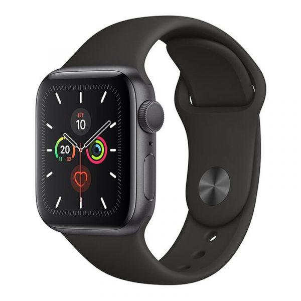 Часы Apple Watch Series 5 GPS 44mm Aluminum Case with Sport Band Space Gray, Black (черный)