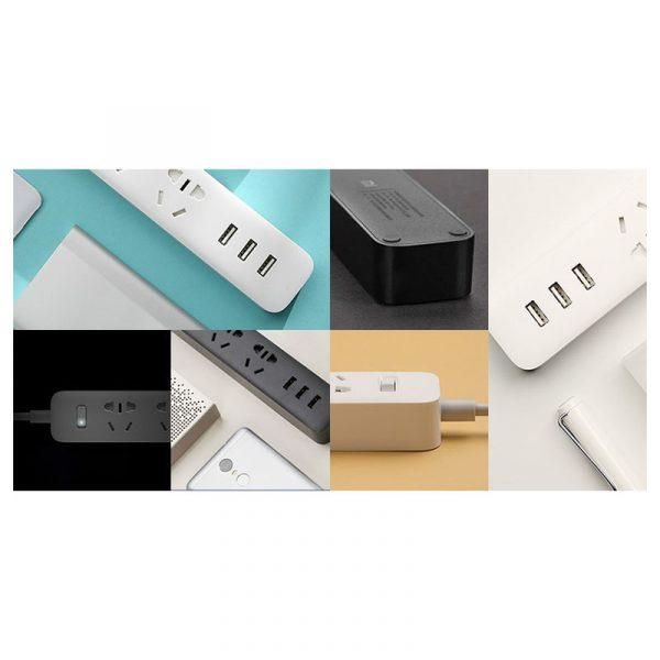 Сетевой адаптер Xiaomi Mi Power Strip (3 розетки + 3 USB) Black (черный)-3