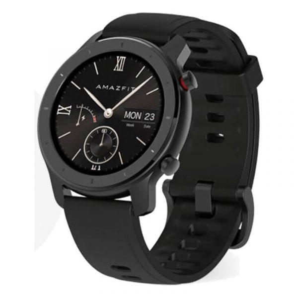 Умные часы Amazfit GTR 42 mm Aluminium case,Silicone strap Black (черный)