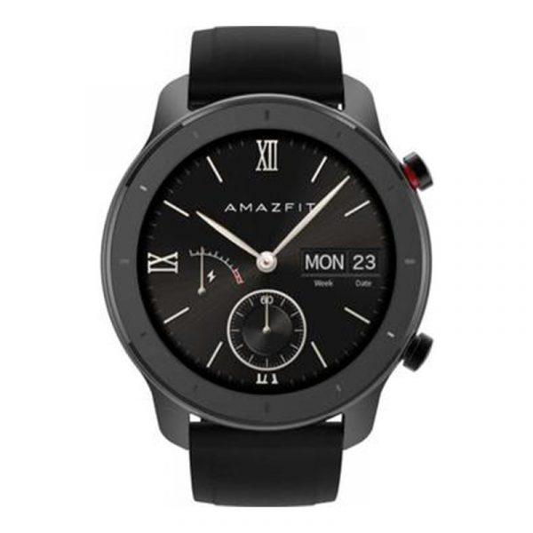 Умные часы Amazfit GTR 42 mm Aluminium case,Silicone strap Black (черный)-1