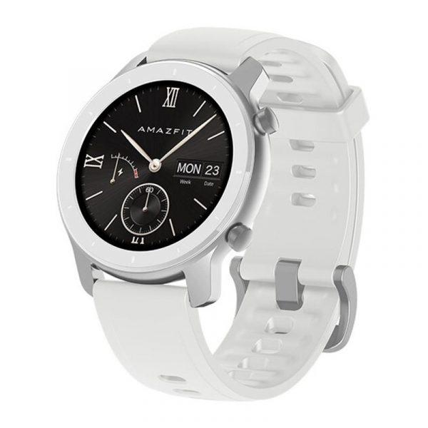Умные часы Amazfit GTR 42 mm Aluminium case,Silicone strap White (белый)