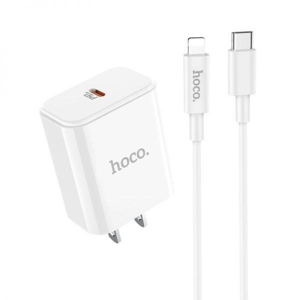 HOCO C71A Star PD 3.0 + кабель USB-C to Lightn