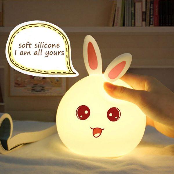 Ночник 3D Bunny (силикон) ААА 2