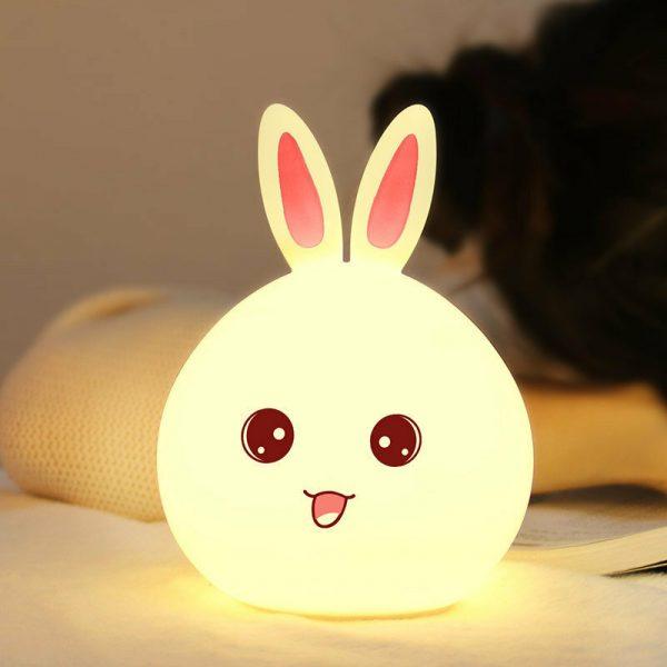 Ночник 3D Bunny (силикон) ААА