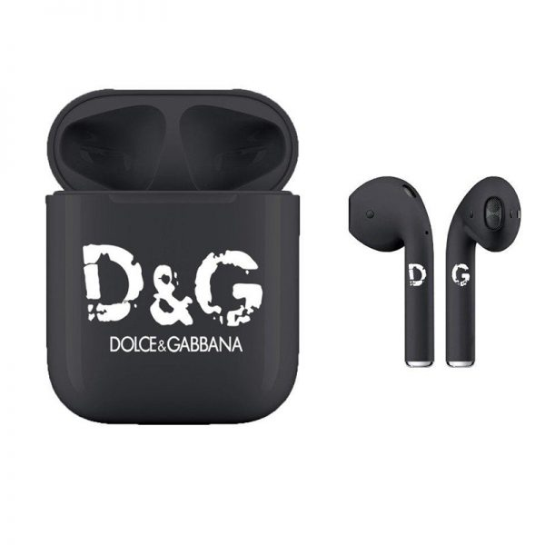 Наушники Apple Airpods 2 Dolce & Gabbana Black (черные)