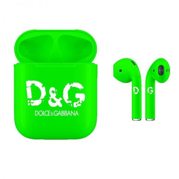 Наушники Apple Airpods 2 Dolce & Gabbana Green (зеленые)
