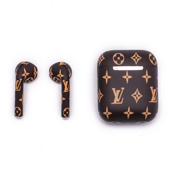 Наушники Apple Airpods 2 Louis Vuitton Brown (коричневые с внутренней прокраской)-5