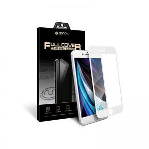 Стекло защитное для iPhone 7 / 8 белый полноразмерное закаленное MOCOLL серия Storm 2.5D Full Cover
