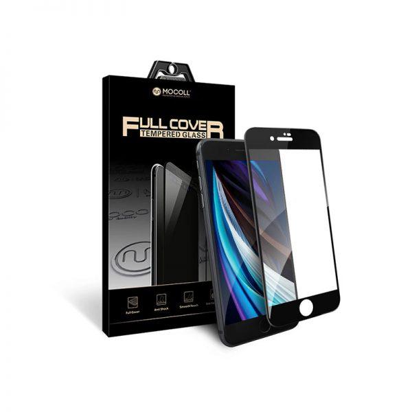 Стекло защитное для iPhone SE 2020 Black полноразмерное закаленное MOCOLL серия Storm 2.5D Full Cover