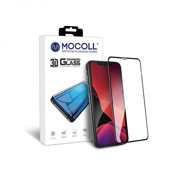 Стекло защитное закаленное MOCOLL Platinum 3D Mix полноразмерное для iPhone XS Max / 11 Pro Max