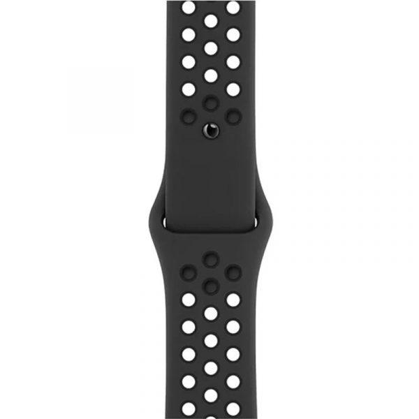 Часы Apple Watch Nike Series 6 40mm Корпус из алюминия цвета «серый космос», cпортивный ремешок Nike «Антрацитовый/чёрный» (M00X3) - 3
