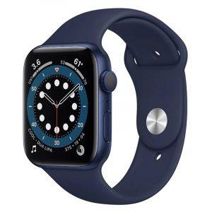 Часы Apple Watch Series 6 40mm Корпус из алюминия синего цвета, cпортивный ремешок «Тёмный ультрамарин» (MG143)