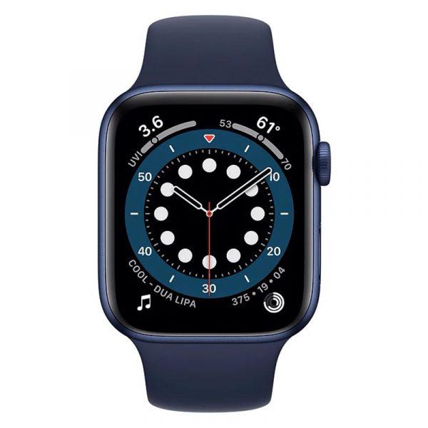 Часы Apple Watch Series 6 44mm Корпус из алюминия синего цвета, cпортивный ремешок «Тёмный ультрамарин» (M00J3) - 2