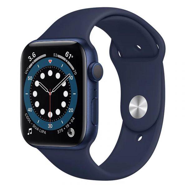 Часы Apple Watch Series 6 44mm Корпус из алюминия синего цвета, cпортивный ремешок «Тёмный ультрамарин» (M00J3) - 1