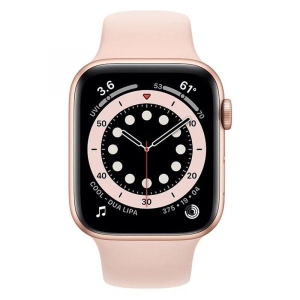 Часы Apple Watch Series 6 44mm Корпус из алюминия золотого цвета, cпортивный ремешок «Розовый песок» (M00E3) - 2