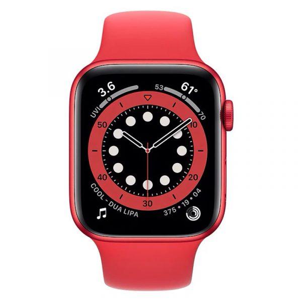 Часы Apple Watch Series 6 44mm Корпус из алюминия красного цвета (PRODUCT)RED, cпортивный ремешок красный (PRODUCT)RED (M00M3) - 2