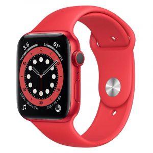 Часы Apple Watch Series 6 44mm Корпус из алюминия красного цвета (PRODUCT)RED, cпортивный ремешок красный (PRODUCT)RED (M00M3)
