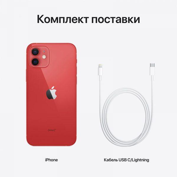 Смартфон Apple iPhone 12 256GB (PRODUCT)RED красный (MGJJ3) - 7