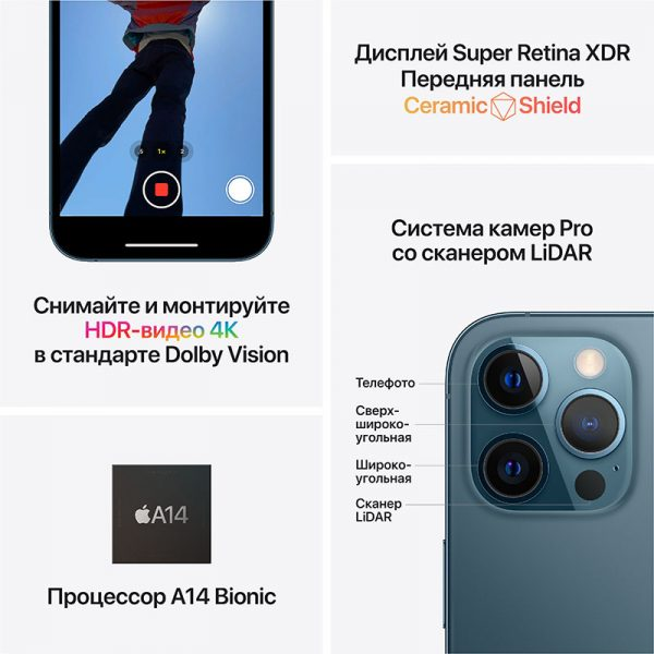 Смартфон Apple iPhone 12 Pro 128GB Graphite чёрный/графитовый (MGMK3) - 6