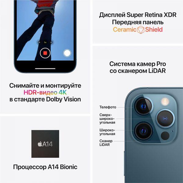 Смартфон Apple iPhone 12 Pro Max 256GB Pacific Blue синий (MGDF3) - 6