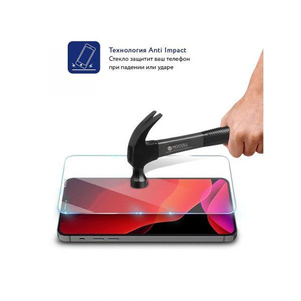 Стекло защитное для iPhone 12 и iPhone 12 Pro полноразмерное прозрачное MOCOLL c252 - 3