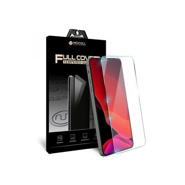 Стекло защитное для iPhone 12 и iPhone 12 Pro полноразмерное прозрачное MOCOLL c252