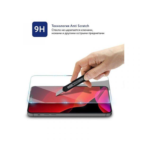 Стекло защитное для iPhone 12 Pro Max полноразмерное прозрачное MOCOLL c253 - 2