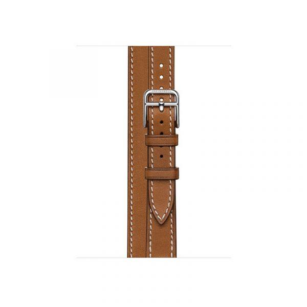 Часы Apple Watch Series 6 Hermès 40mm Корпус из стали серебристого цвета, коричневый двойной кожаный ремешок (MG1V3) - 2