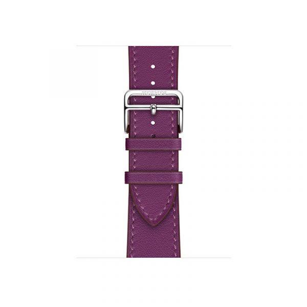 Часы Apple Watch Series 6 Hermès 40mm Корпус из стали серебристого цвета, фиолетовый кожаный ремешок (MGWN3) - 2