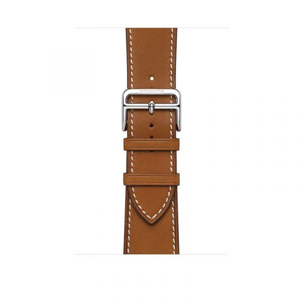Часы Apple Watch Series 6 Hermès 44mm Корпус из стали серебристого цвета, коричневый кожаный ремешок (MG213) - 2