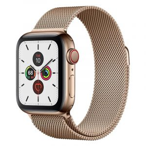 Умные часы Apple Watch Series 5 GPS + Cellular 44mm Stainless Steel Case with Milanese Loop
