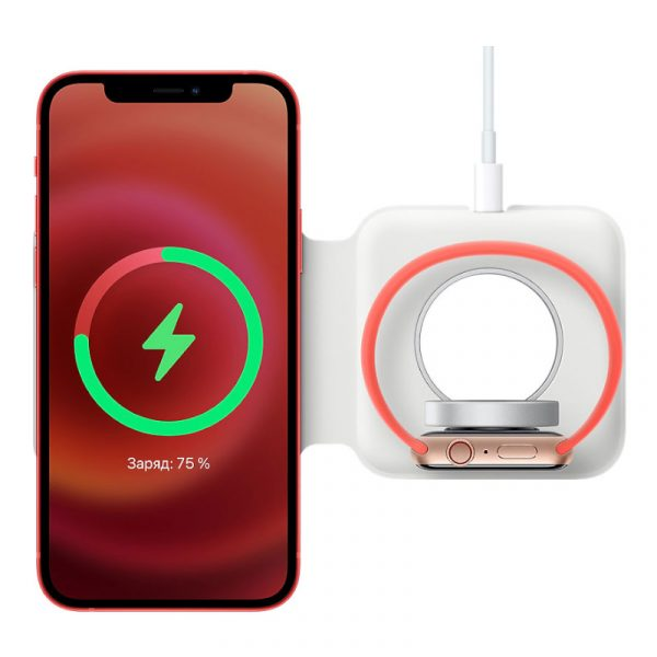 Беспроводная сетевая зарядка Apple MagSafe Duo Charger (MHXF3) - 4