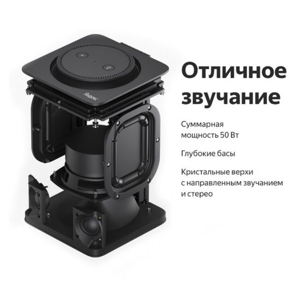 Умная колонка Яндекс Станция с Алисой (фиолетовая) - 3
