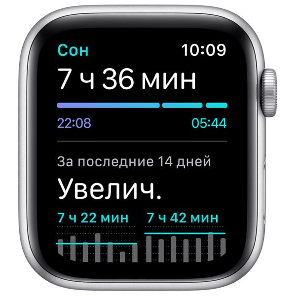 Часы Apple Watch Nike SE 40 мм корпус из алюминия серебристого цвета, спортивный ремешок Nike цвета Чистая платина/Чёрный-4