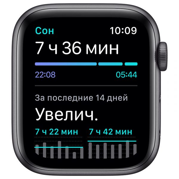 Часы Apple Watch SE 40 мм корпус из алюминия цвета Серый Космос, спортивный ремешок чёрного цвета-4