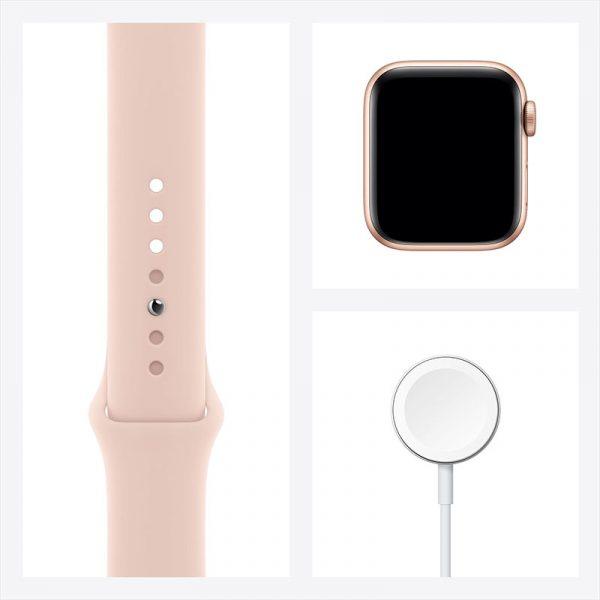 Часы Apple Watch SE 40 мм корпус из алюминия золотого цвета, спортивный ремешок цвета Розовый песок-8