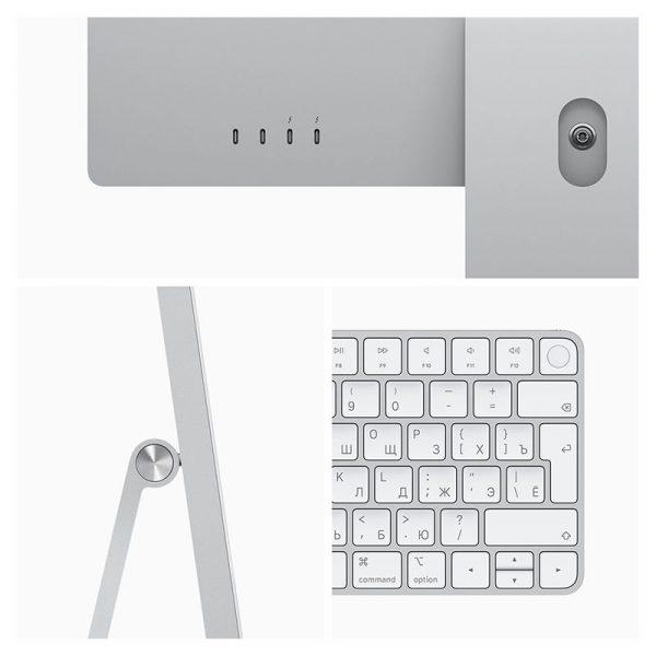 """Моноблок Apple iMac 24"""" Retina 4,5K, (M1 8C CPU, 7C GPU), 8 ГБ, 256 ГБ SSD, Серебристый (MGPN3)-1"""