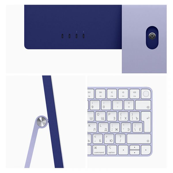 "Моноблок Apple iMac 24"" Retina 4,5K, (M1 8C CPU, 8C GPU), 8 ГБ, 256 ГБ SSD, Фиолетовый-8"