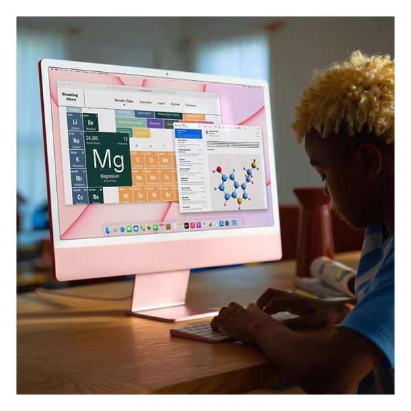 """Моноблок Apple iMac 24"""" Retina 4,5K, (M1 8C CPU, 8C GPU), 8 ГБ, 256 ГБ SSD, Серебристый (MGPN3)-9"""