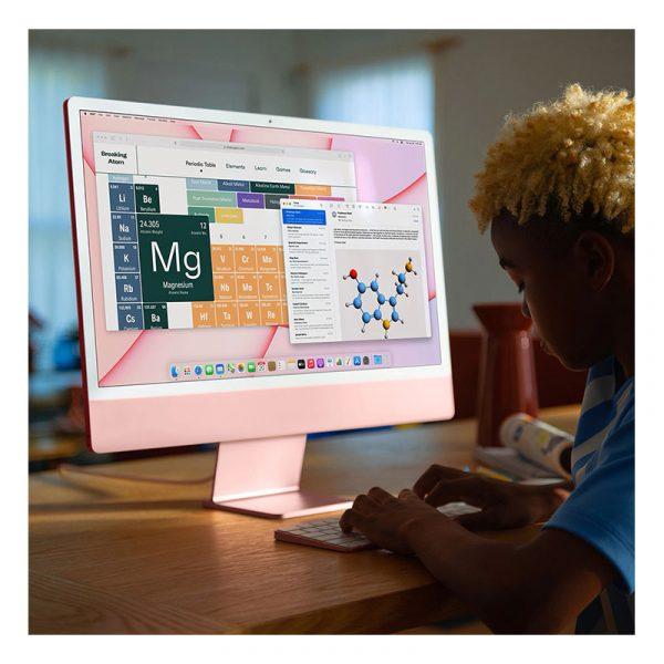 Моноблок Apple iMac 24″ Retina 4,5K, (M1 8C CPU, 8C GPU), 8 ГБ, 512 ГБ SSD, Синий (MGPN3) - 4