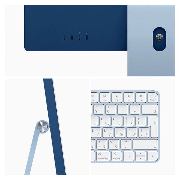 Моноблок Apple iMac 24″ Retina 4,5K, (M1 8C CPU, 8C GPU), 8 ГБ, 512 ГБ SSD, Синий (MGPN3) - 2
